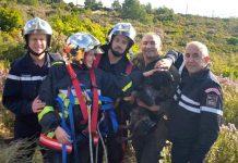 Samedi matin à Jas-de-Clare dans le Var un chien de chasse fut sauvé de la noyade par les pompiers.