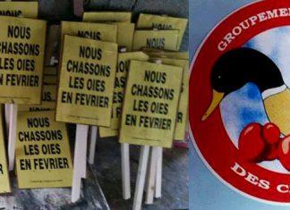 Manifestation en faveur de la chasse aux oies à Rochefort samedi 3 février