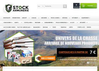 Site d vente en ligne chasse stock armurerie