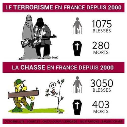 Chasseurs et terroristes