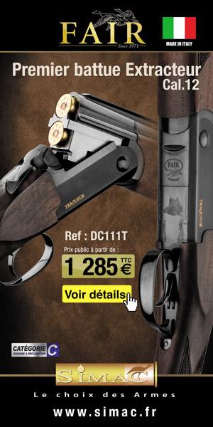 Fusil Fair - Traqueur / Superposé Slug / Extracteur cal.12
