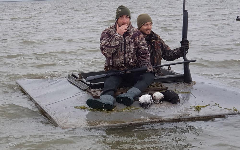 Il ne reste plus que 2 caleuses sur tout le lac Saint Pierre, un mode de chasse tout à fait particulier !
