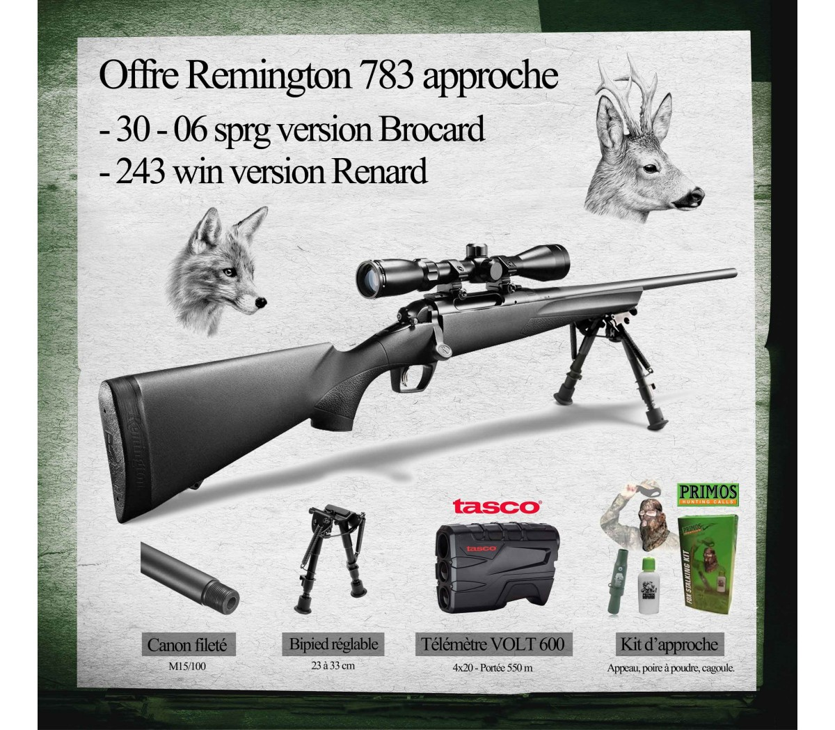 Shopping : Pack Remington affût