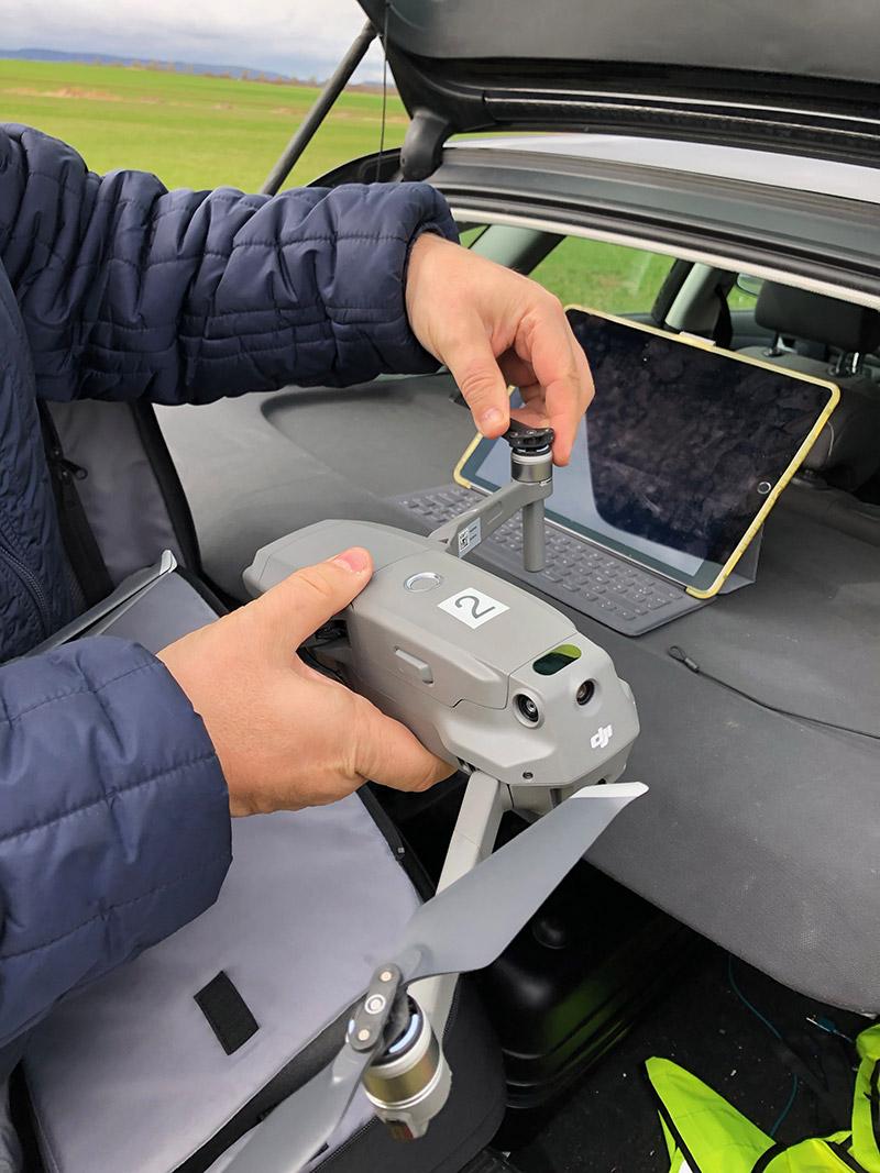 Compter le gibier par droen devient possible, pour les dégâts sela permet de gagner du temps