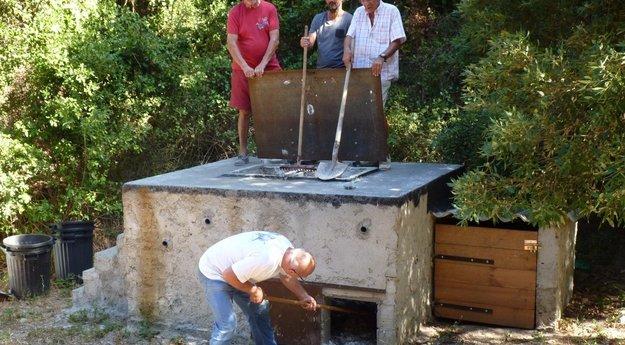 Fosse à gibier à Tomino en Corse