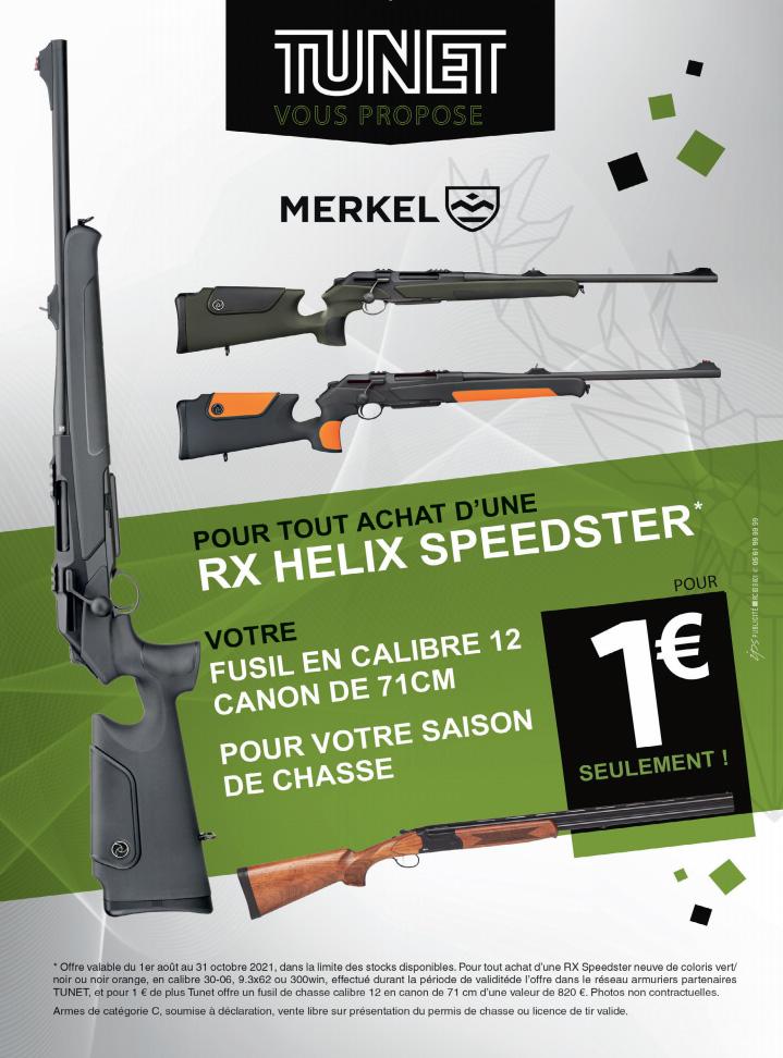 Offre Tunet : une carabine achetée = un fusil offert
